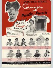 1956 PAPER AD Kathryn Kay Ginger Dolls Baby Cosmopolitan Revell Ford Sunliner