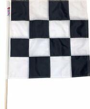 Sewn Flatlock Seam Black & White Checkered Racing Flag