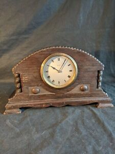 French 8 Day Mantle Clock Spares Or Repair