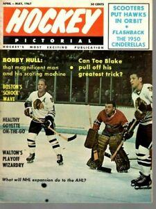 1967 (Apr.-May) Hockey Pictorial Magazine, Bobby Hull, Chicago Blackhawks ~ VG