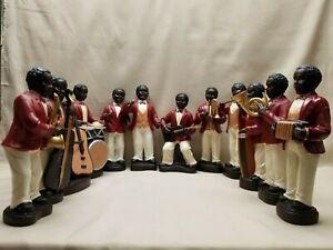 Vintage Hand Painted Porcelain Jazz Figurines New Orleans Preservation Hall