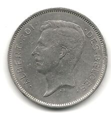 Belgium 20 francs 1931 KM 101.1 VF+  French Coppernickel coin circulated