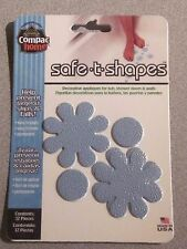Safe-T-Shapes Blue Daisy Non-Slip Safety Applique Decal Stickers Bath Tub Shower