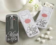 Mint to Be Heart Mints Bride Groom Tins Wedding Favors