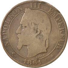 Monnaies, Second Empire, 5 Centimes Napoléon III tête laurée, 1861 BB #35425