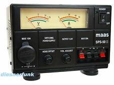 CB Funk & Amateurfunk Schaltnetzteil 9-15 Volt DC 50 Ampere MAAS SPS 50-II Noise