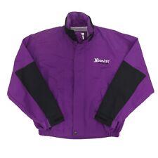 Vintage Hoosier Racing Tire Purple & Black Full Zip Rain Coat Jacket Men's Sz M