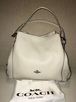 COACH Edie Shoulder Bag 31 in Polished Pebble Leather w Star Rivets 59468 Chalk