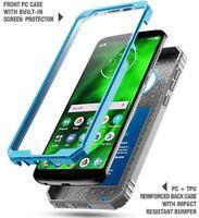 Full Coverage Shockproof Cover Case For Motorola Moto G6 Blue