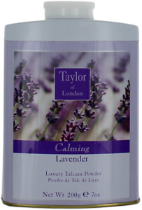 Calming Lavender By Taylor Of London For Women Talcum Powder 7oz Can New