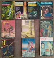 Vintage SciFi pulp magazines - lot of 10 - IF, Galaxy, Analog, Science Fiction
