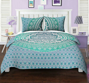 Queen Size Mandala Bedding Bedspread Bed Cover Hippie Bohemian Coverlet Bedsheet