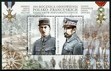 Poland 2019 MNH Diplomatic Relations JIS France Charles de Gaulle 2v M/S Stamps