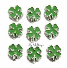 'Four Leaf Clover' Floating Charm For Living Memory Locket Pendant Bracelet Luck