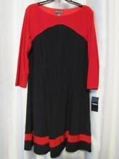 NWT American Living Color blocked ALine Dress Black Red 16 Org $79.00