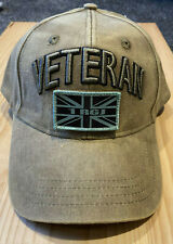 RGJ VETERAN'S adjustable baseball cap with patches, 3D Veteran's sign