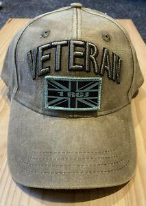 RGJ VETERAN'S adjustable baseball cap with patches, 3D Veteran's sign