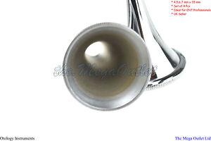 ENT SURGICAL HARTMANN PEDIATRIC EAR SPECULUM CANNULA SILVER & BLACK 4 PIECE SET
