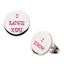 Star Wars I Love You I Know Enamel Stud Stainless Steel Earrings