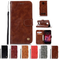 Luxury Leather Wallet Flip Case Cover Stand For Motorola Moto Z2 Force / Z2 Play