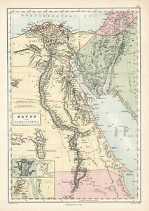 1873 Egypt and Arabia Petraea-Original map