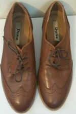 DUNE Leslee D UK 5 Brown Leather Brogues Lace-Up Ladies EU 38 US 7 EXC Worn 3x
