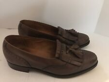 Polo Ralph Lauren Mens Dress Shoes 7.5M Brown Slip On Loafer Casual Shoe Tassel
