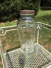 Hazel Atlas Crisscross RARE Depression Glass Food Mixer w Baby Face on Side NICE