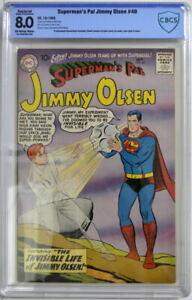 Superman's Pal JIMMY OLSEN 40 CBCS 8.0 DC 1959