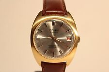 "BEL vintage classico placcato oro Swiss MEN'S HAND WIND UP WATCH ""VIALUX"" 17 J."