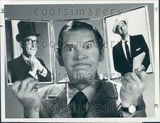 1970 Comic Actor Milton Berle Puts Head in Pic Frame Phil Silvers Press Photo