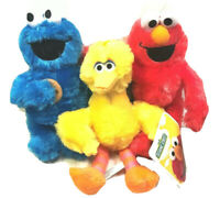 "Sesame Street Elmo,Cookies Monster, Big Bird 9-11"" Stuffed Animal Plush Toy Set"