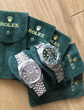 ROLEX Genuine Travel Pouch With Embossed Gold Crown