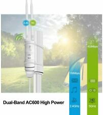 High Power Ac600 Dual Band Outdoor PoE Wireless Access Point Repeater Dual Omni