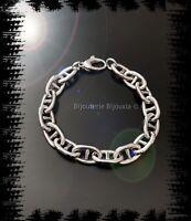 Bracelet Maille Marine 20CM Argent Massif 925/1000 Rhodié Bijoux Femme