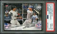 2017 Topps Now BB # 66 Aaron Judge & Cody Bellinger ROOKIE OF THE YEAR PSA 10 !!