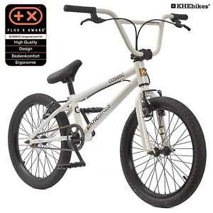 KHE BMX Bicyclette Cosmic Blanc 20 Pouces Avec Affix Rotor Seulement 11,1kg