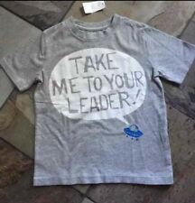NWT 4 Baby Gap Take Me To Your Leader Alien Funny Tee Shirt!