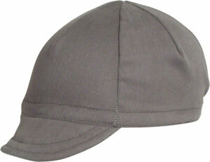 Pace Sportswear Euro Soft Bill Cycling Cap: Graphite, MD/LG