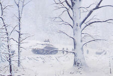 """Christmas in the Ardennes"" Dru Blair Print - 2nd Armored Division WW II"