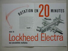 12/56 PUB LOCKHEED AIRCRAFT ELECTRA AIRLINER / AIR FRANCE SUPER G FRENCH AD