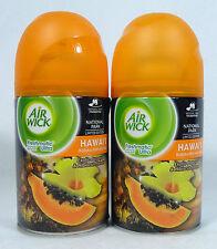 2 Air Wick FreshMatic Spray Refills HAWAI'I EXOTIC PAPAYA Airwick Refill