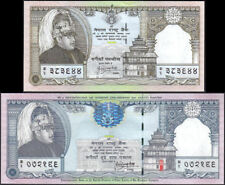 NEPAL 1997 Rs 25 & 250 ODD VALUE Com Banknotes, P # 41-42, sign 13, set of 2 UNC