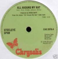 "STEELEYE SPAN ~ ALL AROUND MY HAT / BLACK JACK DAVY ~ 1975 UK 7"" SINGLE [Ref.2]"