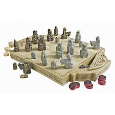 Chess & Checkers Set Fashioned After the British Museum Original Isle Of Lewis