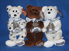 TY HERSHEY SET - KISSES, HUGSY & COCOA BEAN - MINT with MINT TAG
