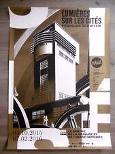 SCHUITEN François Affiche originale Tour St Albert Binche Belgique Architecture