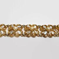 Vintage Freshwater Pearl Gold Tone Bracelet