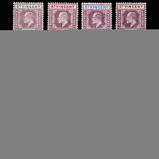Multiple St Vincentian Edward VII Era (1902-1910) Stamps
