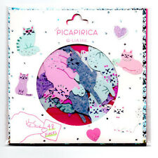Q-lia Kawaii Picapirica Cats Kittens Sticker Sack Flakes Japan